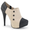 CHLOE-11 Black/Cream Faux Leather